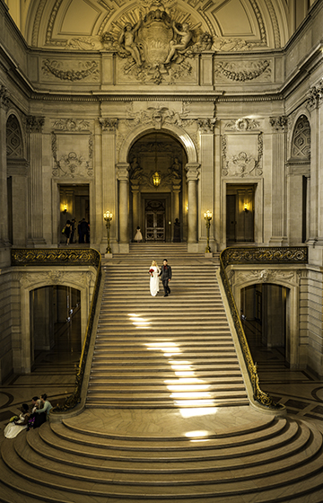 fine and elegant san francisco city hall wedding photography for international couples