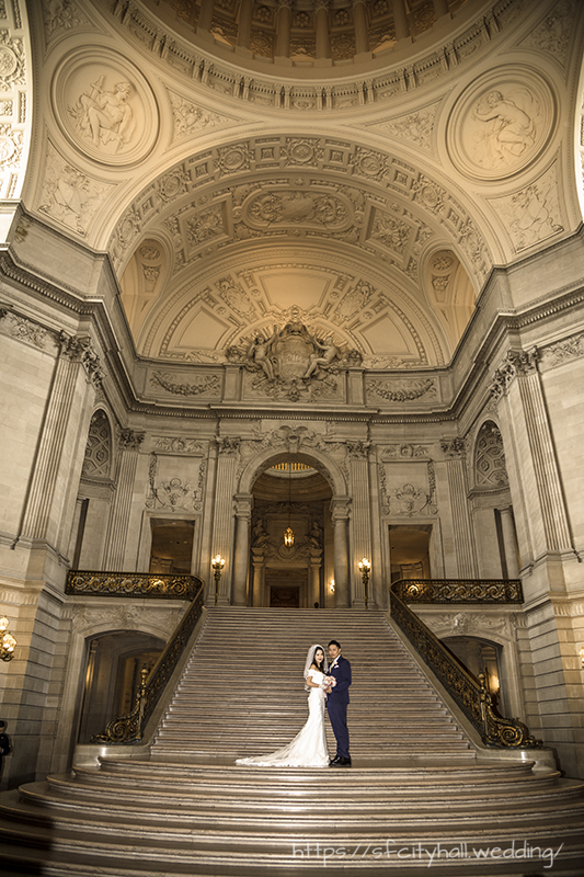 Affordable easy budget San Francisco City Hall Wedding Photographers
